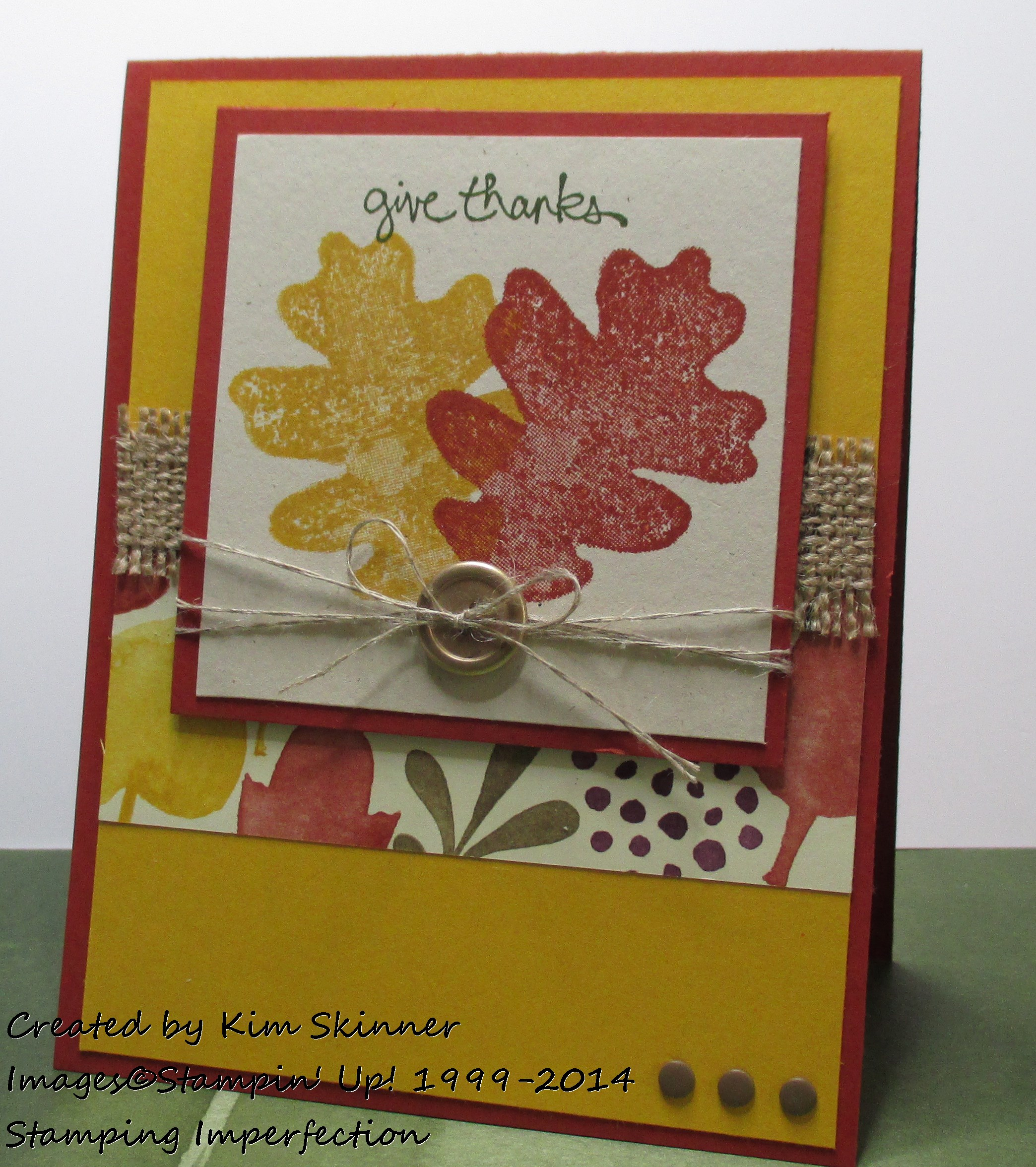 Color Me Autumn:  2 Card Layouts + Video Tutorial