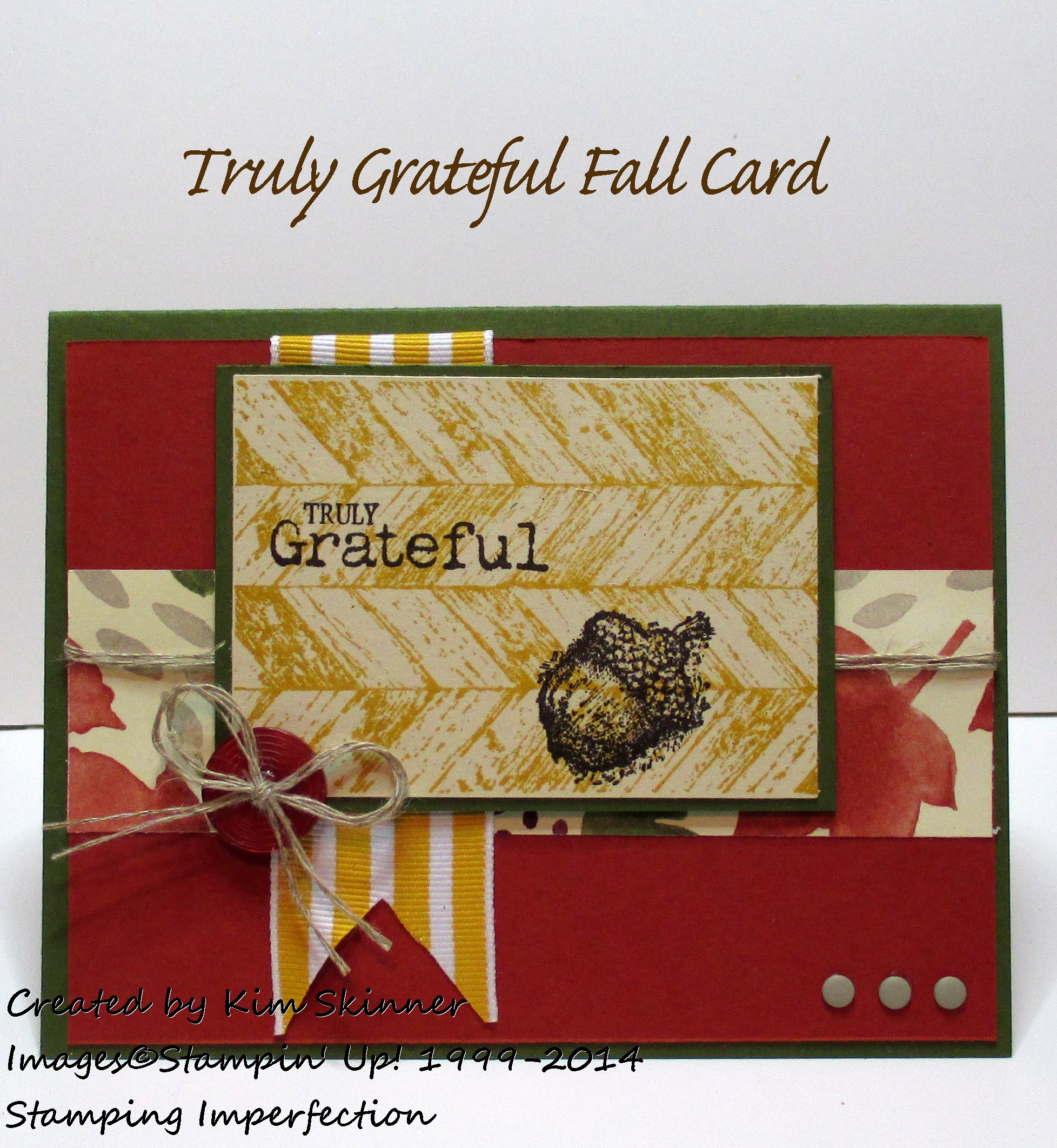 Would You Be Truly Grateful For A Quick Fall Card?