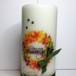 10 days of thankgiving projects hand stamped candles