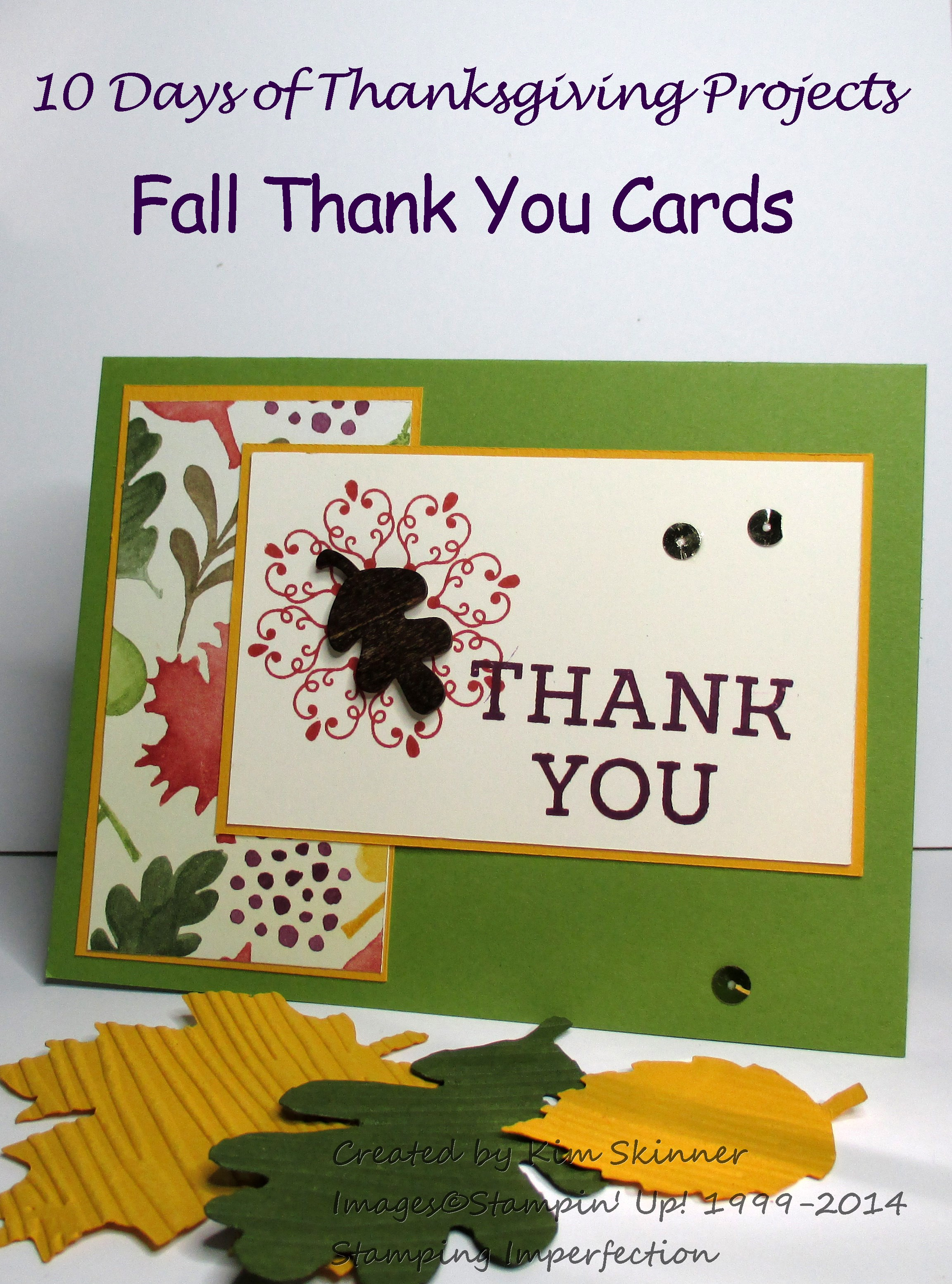 10 Days of Thanksgiving Projects Day 5 Fall Thank You Card