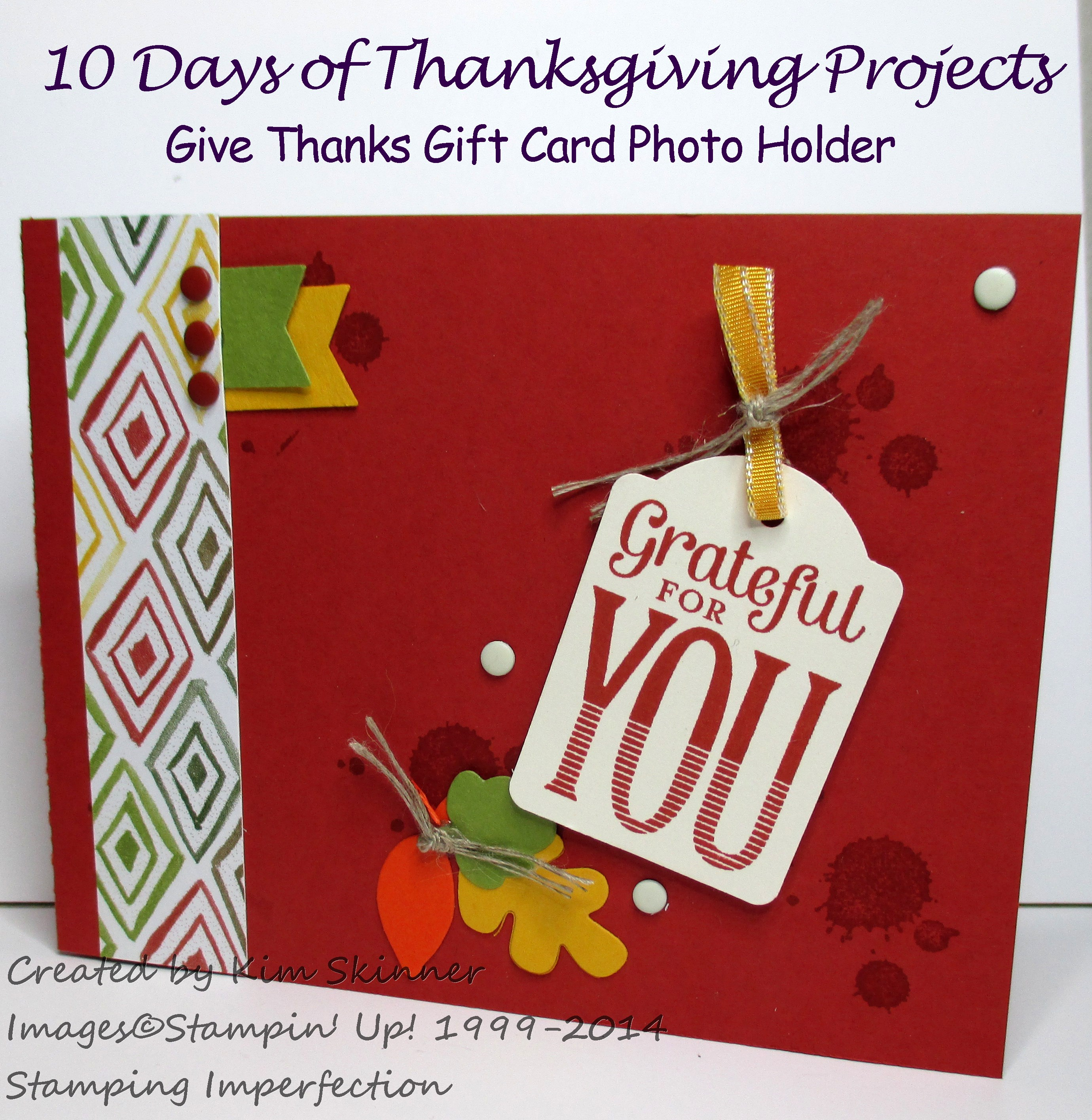 10 Days of Thanksgiving Projects Day 6 Give Thanks Photo Gift Card Holder