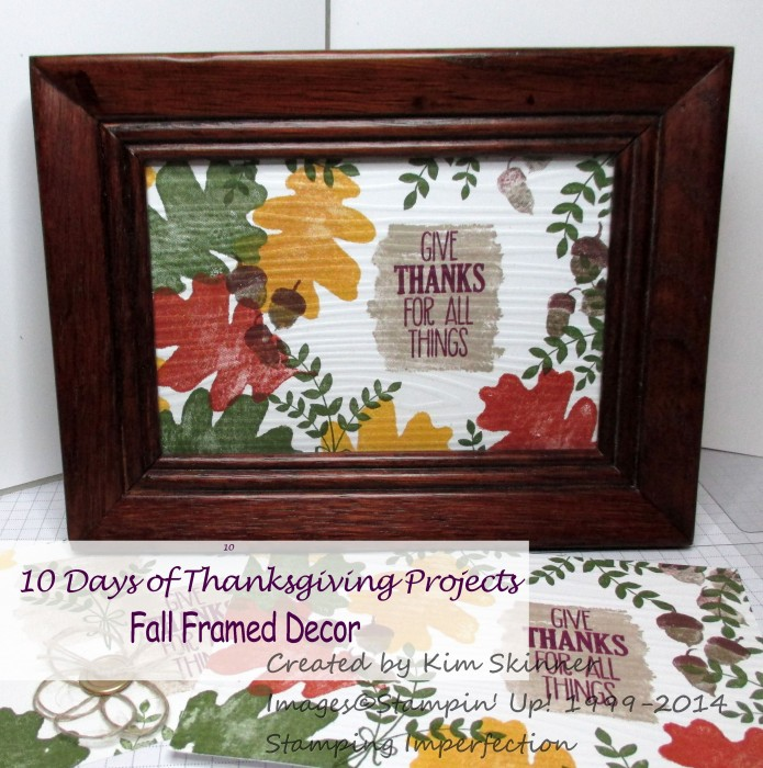 10 days of thanksgiving projects framed fall decor