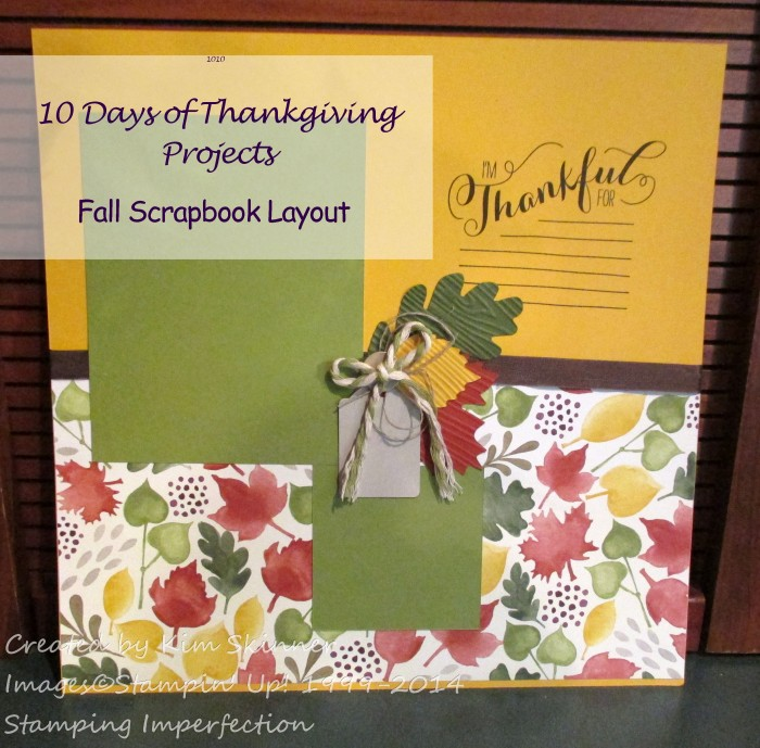 10 Days of Thanksgiving Projects Fall Scrapbook Layout