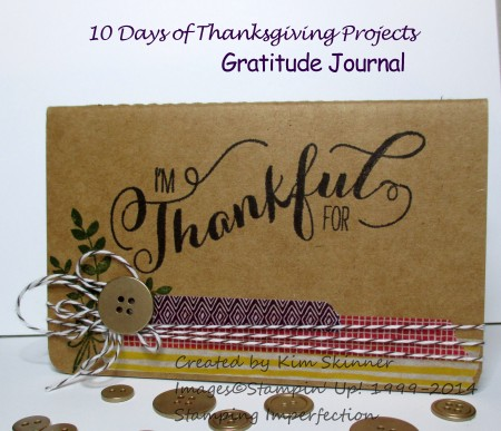 10 days of Thanksgiving Projects day 2 gratitude journal