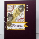 10 Days of Thanksgiving Projects: Truly Grateful Card