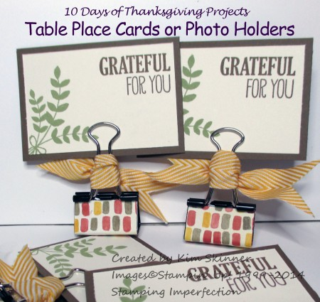 10 Days of Thanksgiving Projects Day 3 Table Place Cards