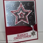 stamping imperfection bright and beautiful foil stars