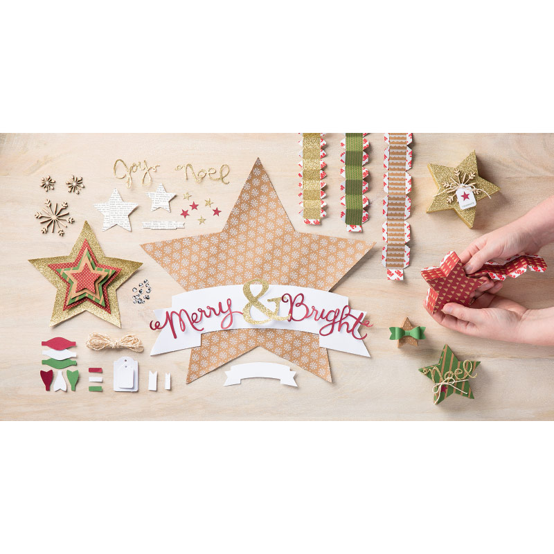 stamping imperfection many merry stars kit