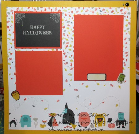stamping and scrapbooking sunday series halloween layout