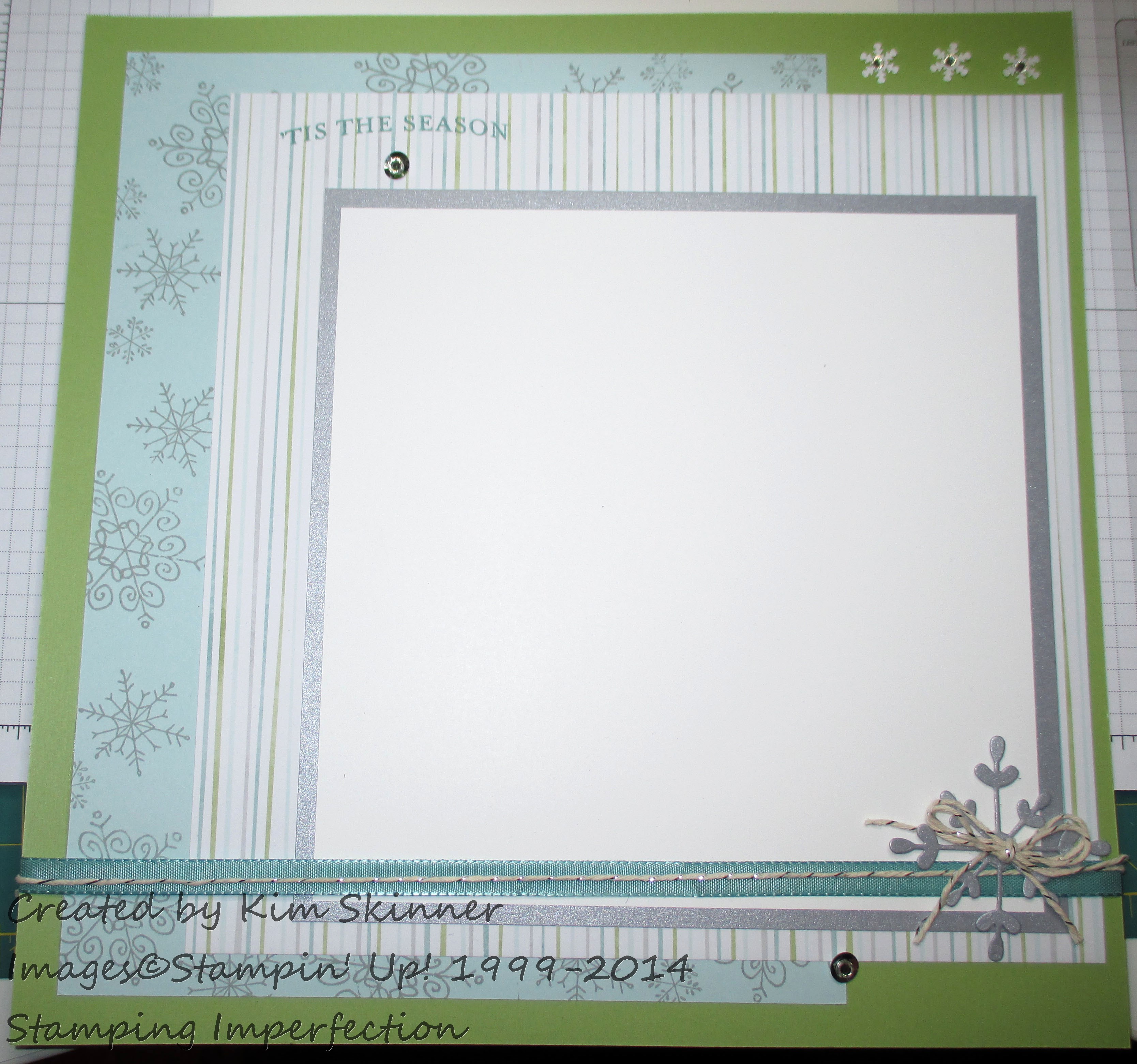 stamping and scrapbooking sunday series: Winter Layout