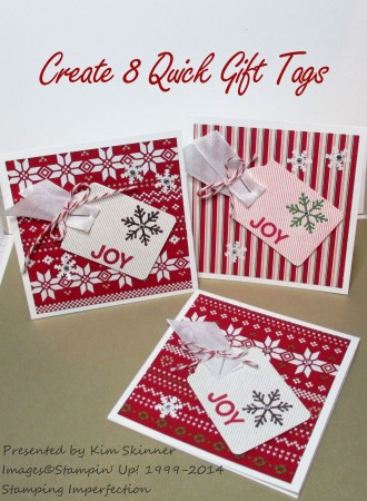 Stamping Imperfection:  Create 8 Quick Gift tags + video and printable tutorial