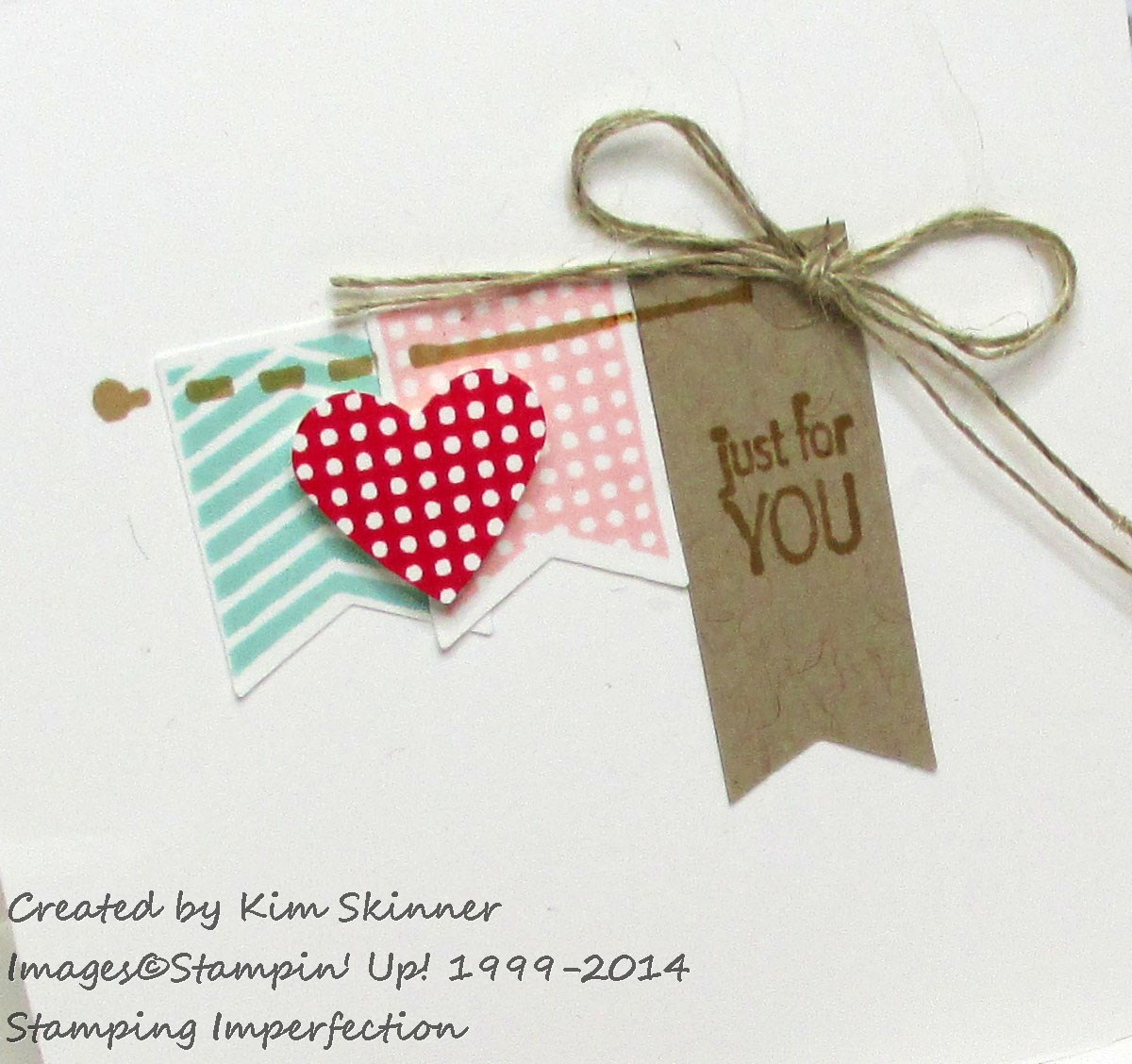 Stamping Imperfection CASED Banner Banter Gift Cards