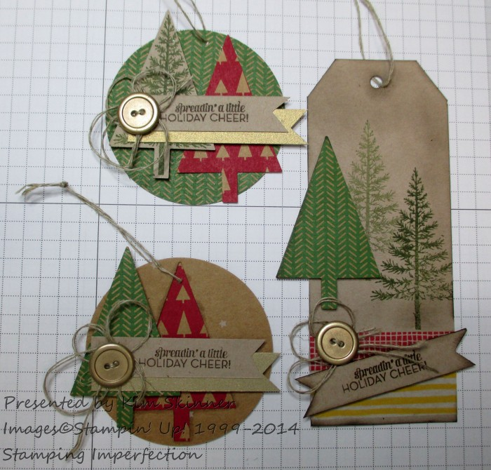 Stamping Imperfection 3 Quick Festival of Trees Gift Tags