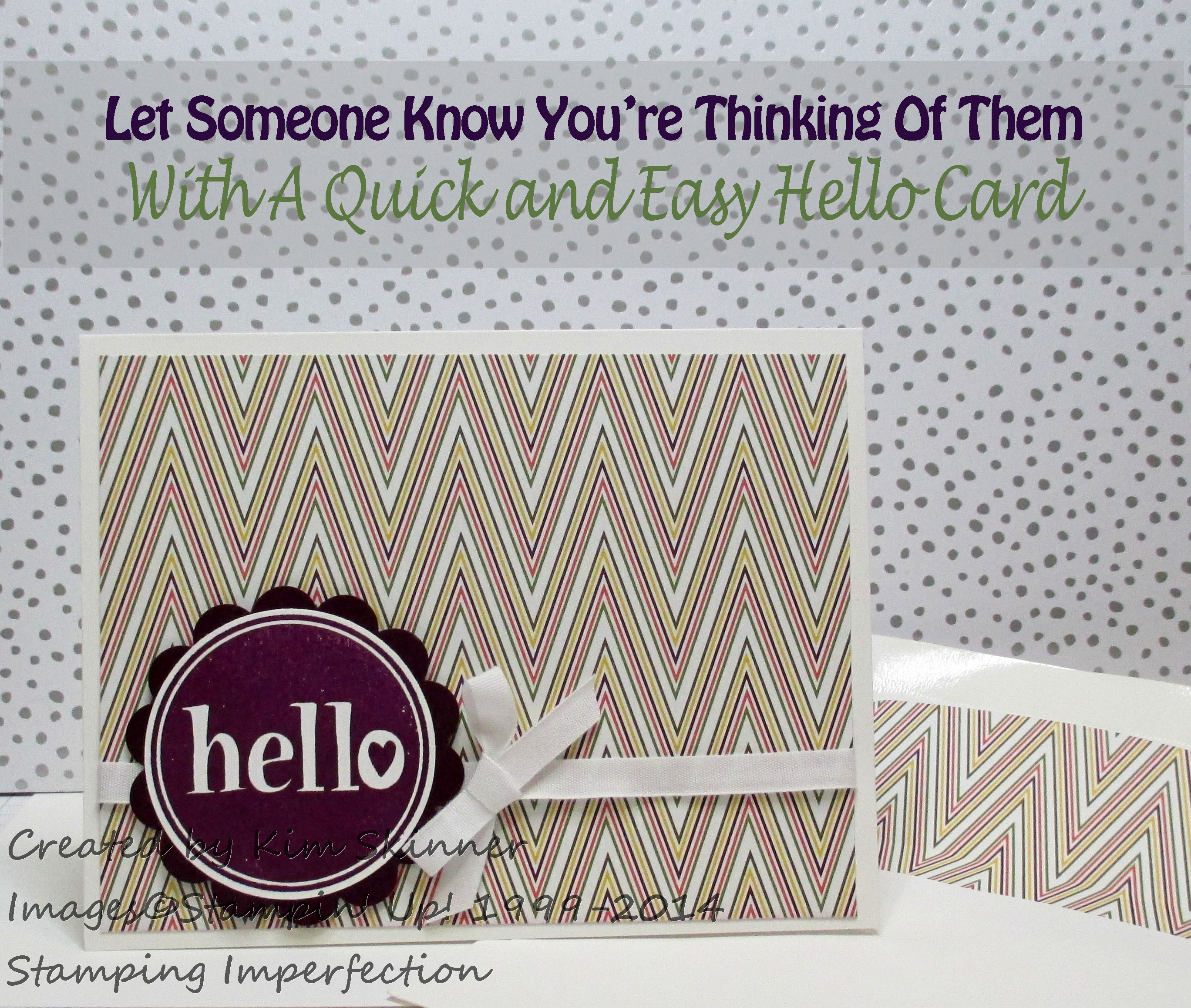 let someone know you're thinking about them with Stamping Imperfection