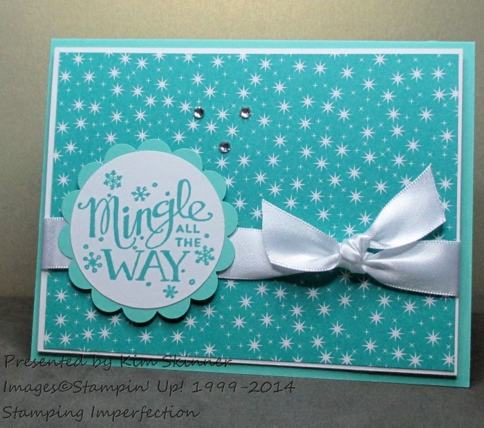 Stamping Imperfection Get 4 Card Ideas for Mingle All The Way