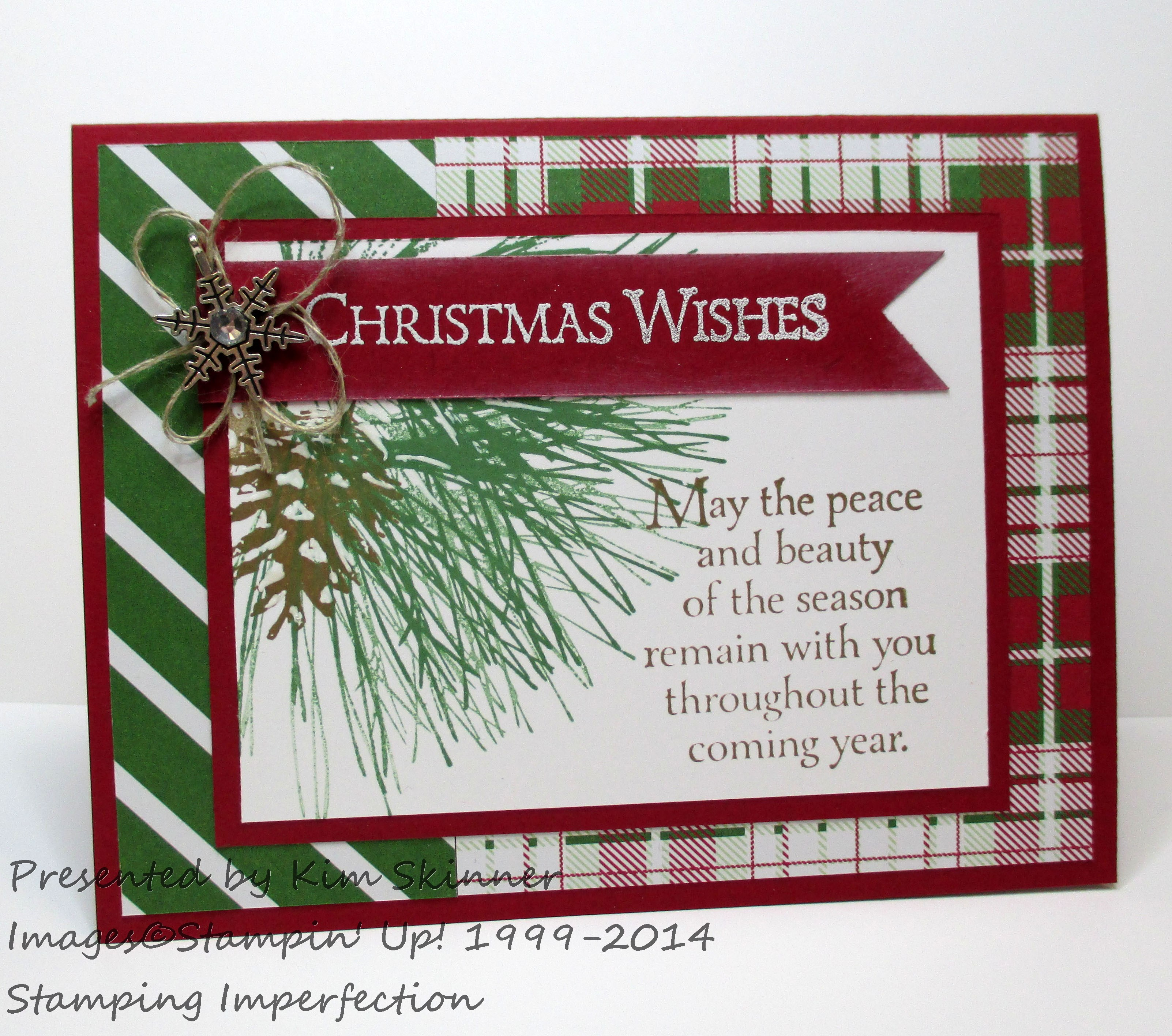 Stamping Imperfection Ornamental Pine Card with the Paper Craft Crew Sketch