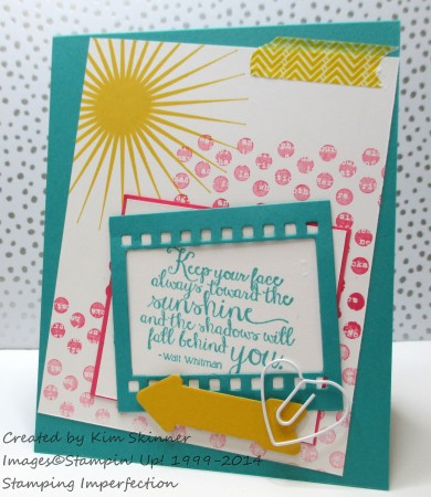 Stamping Imperfection Trendy card with the Paper Craft Crew Sketch