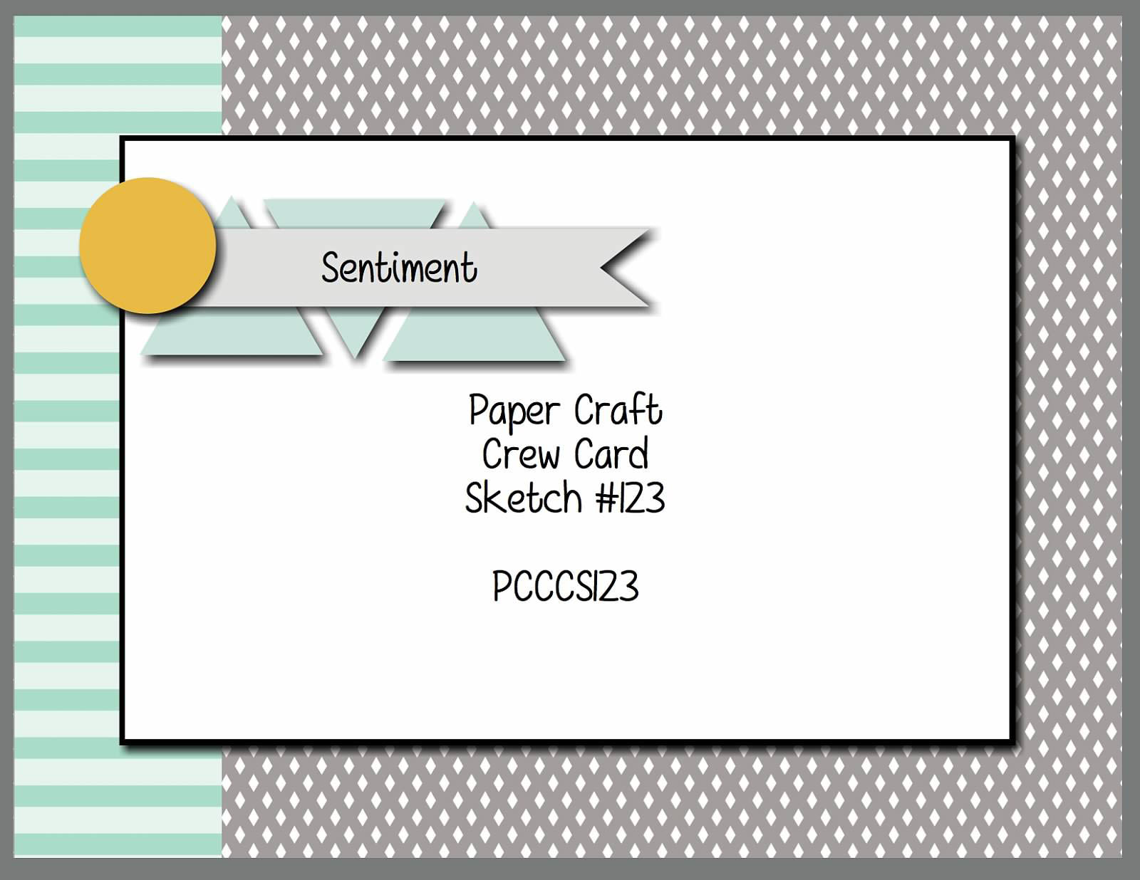 Stamping Imperfection Paper Craft Crew Sketch 123