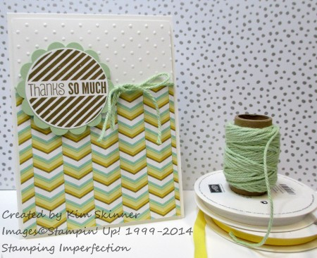 Thank you so much quick card + video and printable card recipe from Stamping Imperfection