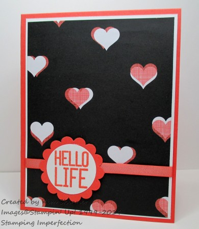 Stamping Imperfection Quick Card Hello Life
