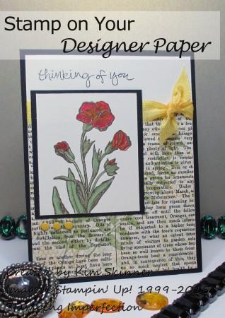 Stamping Imperfection Stamp on Designer Paper