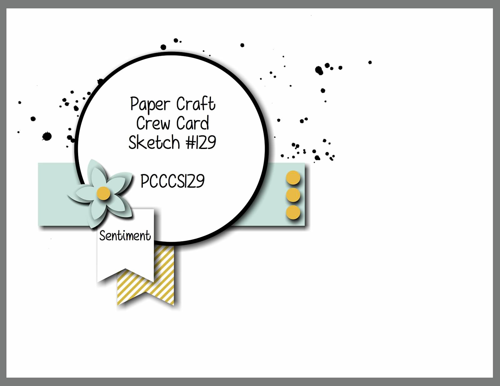 paper craft crew card sketch