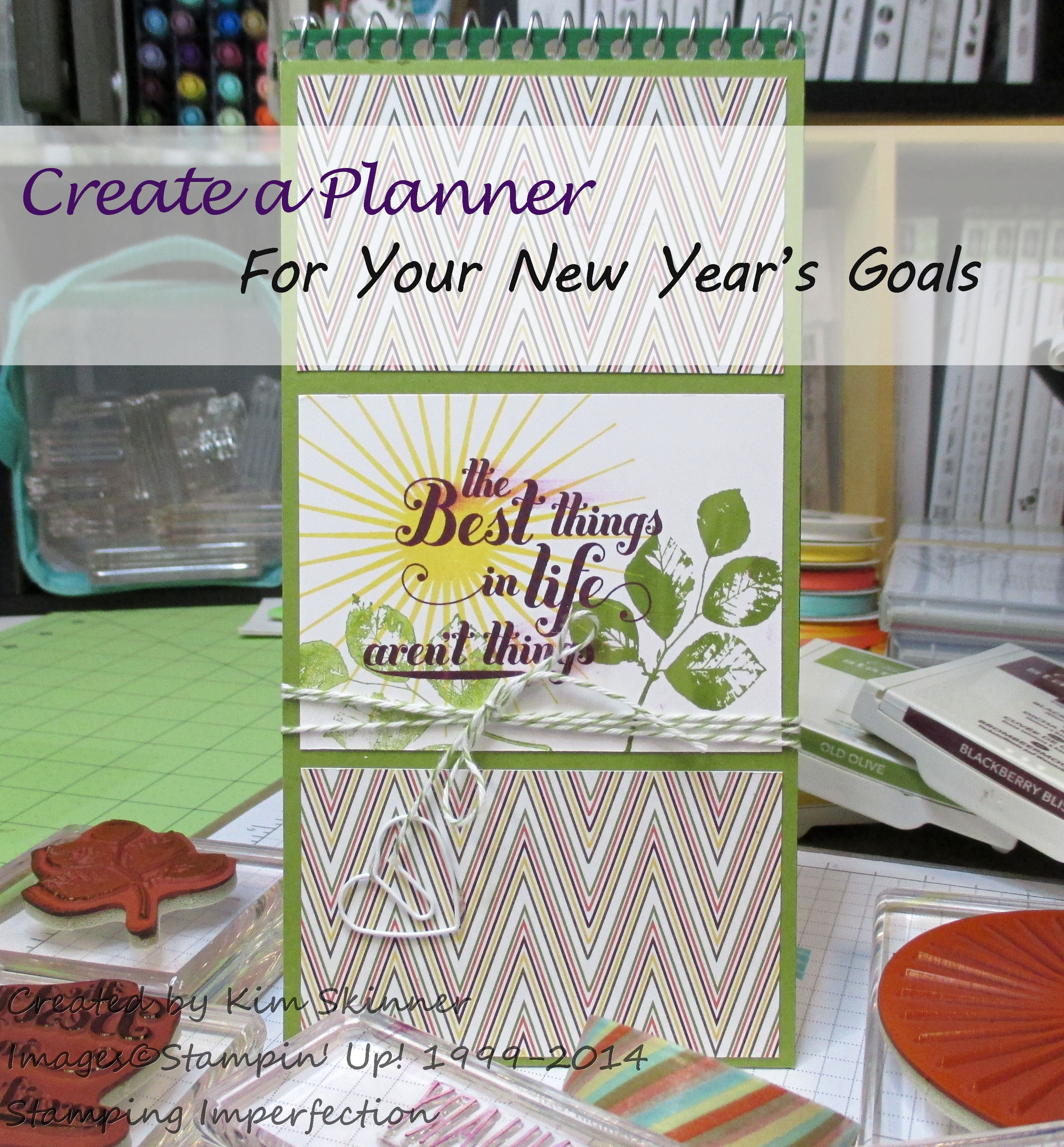 Stamping Imperfection Create a quick and easy planner for your new year's goals