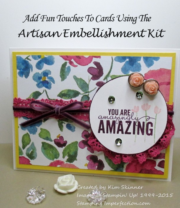 Use the artisan embellishment kit