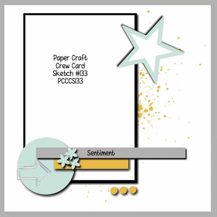 Paper Craft Crew card sketch 133