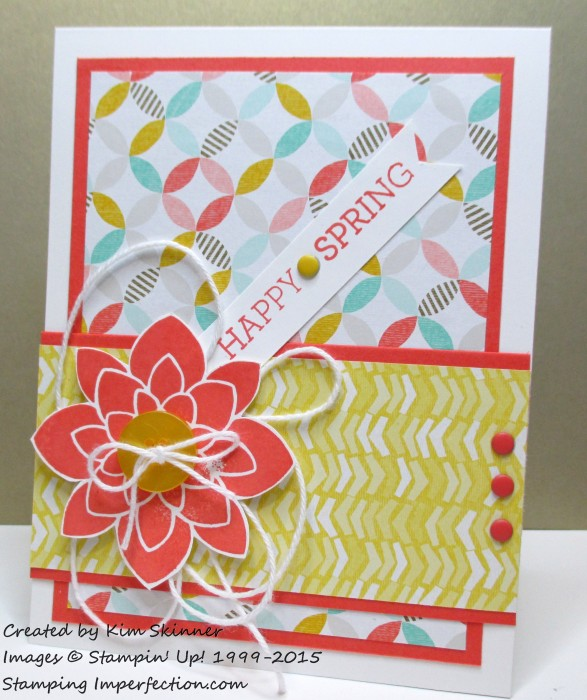 stamping imperfection quick hello spring card