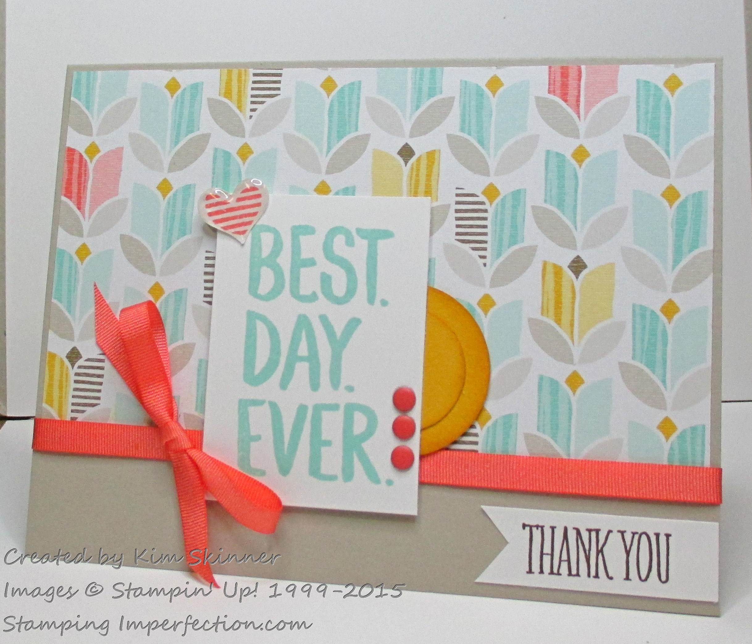 Make a quick card with sale-a-bration freebies with stamping imperfection
