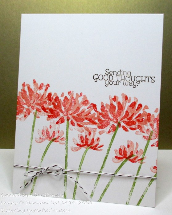 Two Quck Single Layer Cards from one stamp set from stamping imperfection