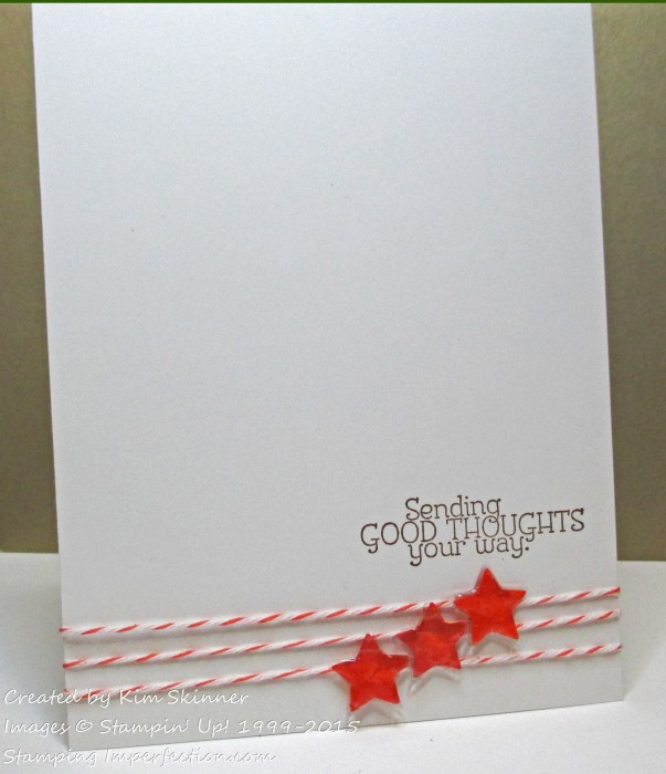 Two Quck Single Layer Cards from one stamp set stamping imperfection