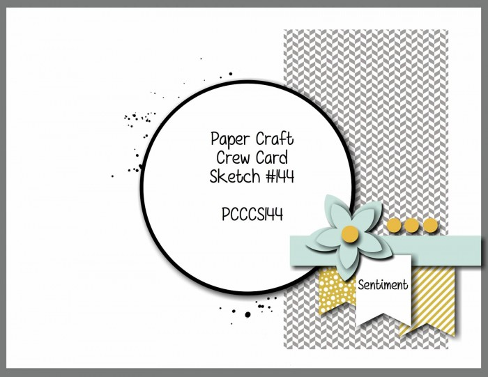 stamping imperfection paper craft crew sketch challenge 144