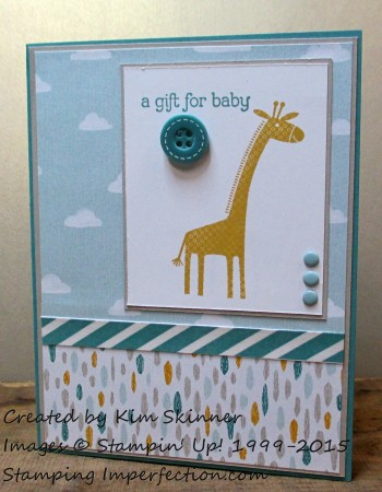 Stamping Imperfection Sweet Baby Card