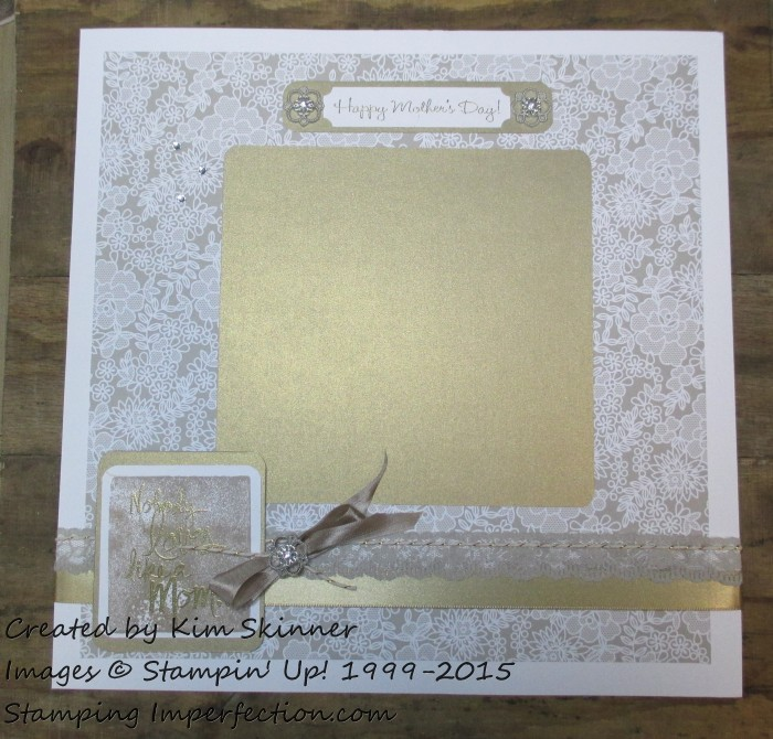 Stamping Imperfection Mother's Day Scrapbook Layout
