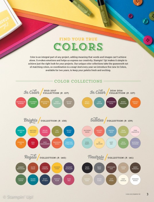 Stamping Imperfection Color Families