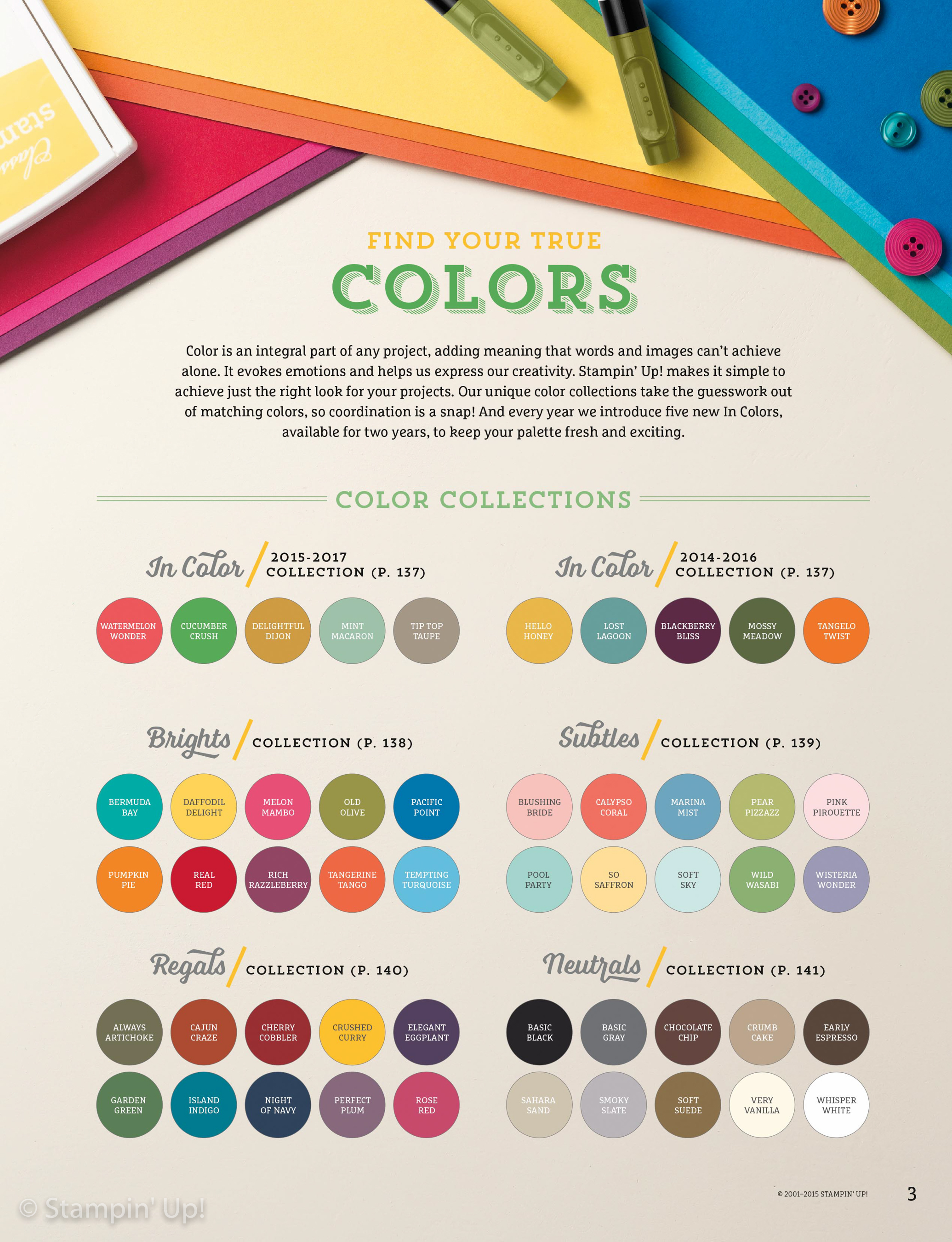 Have You Seen Stampin' Up!'s Color Collections? | Stamping ...
