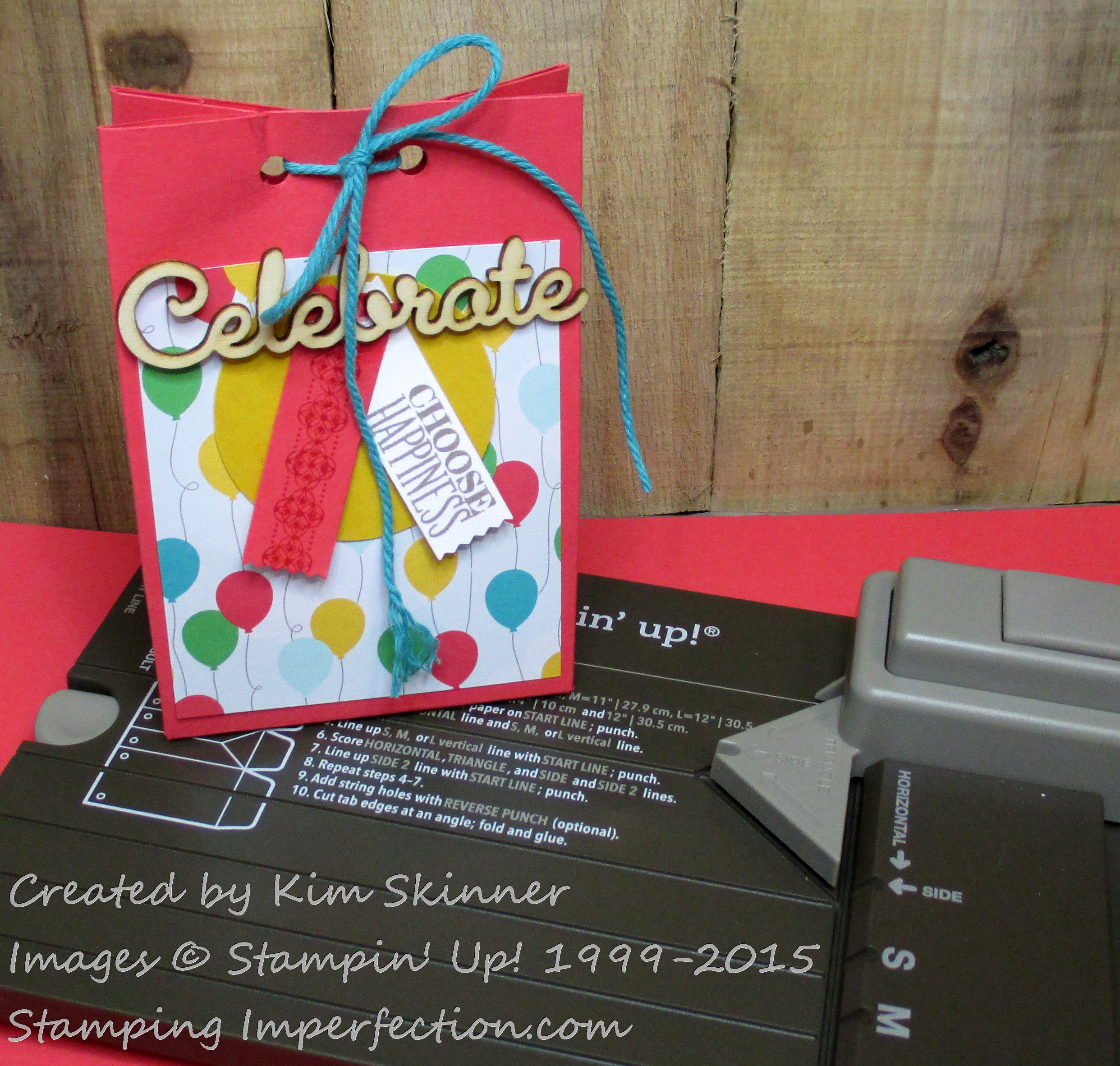 stamping imperfection gift bag punch board