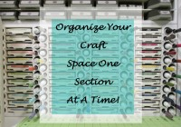 Stamping Imperfection craft room storage
