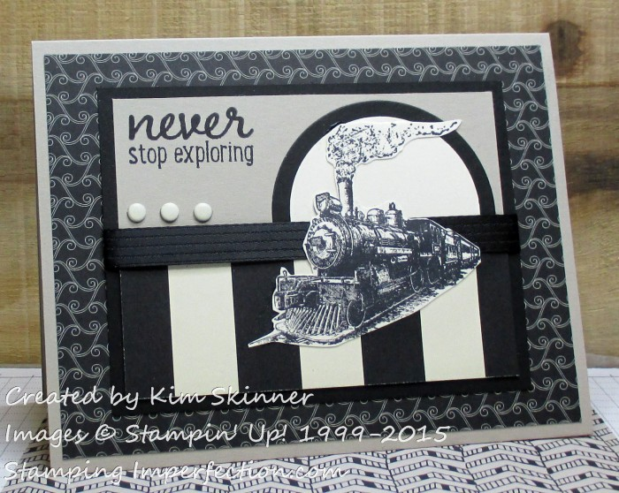 Masculine greeting card from stamping imperfection