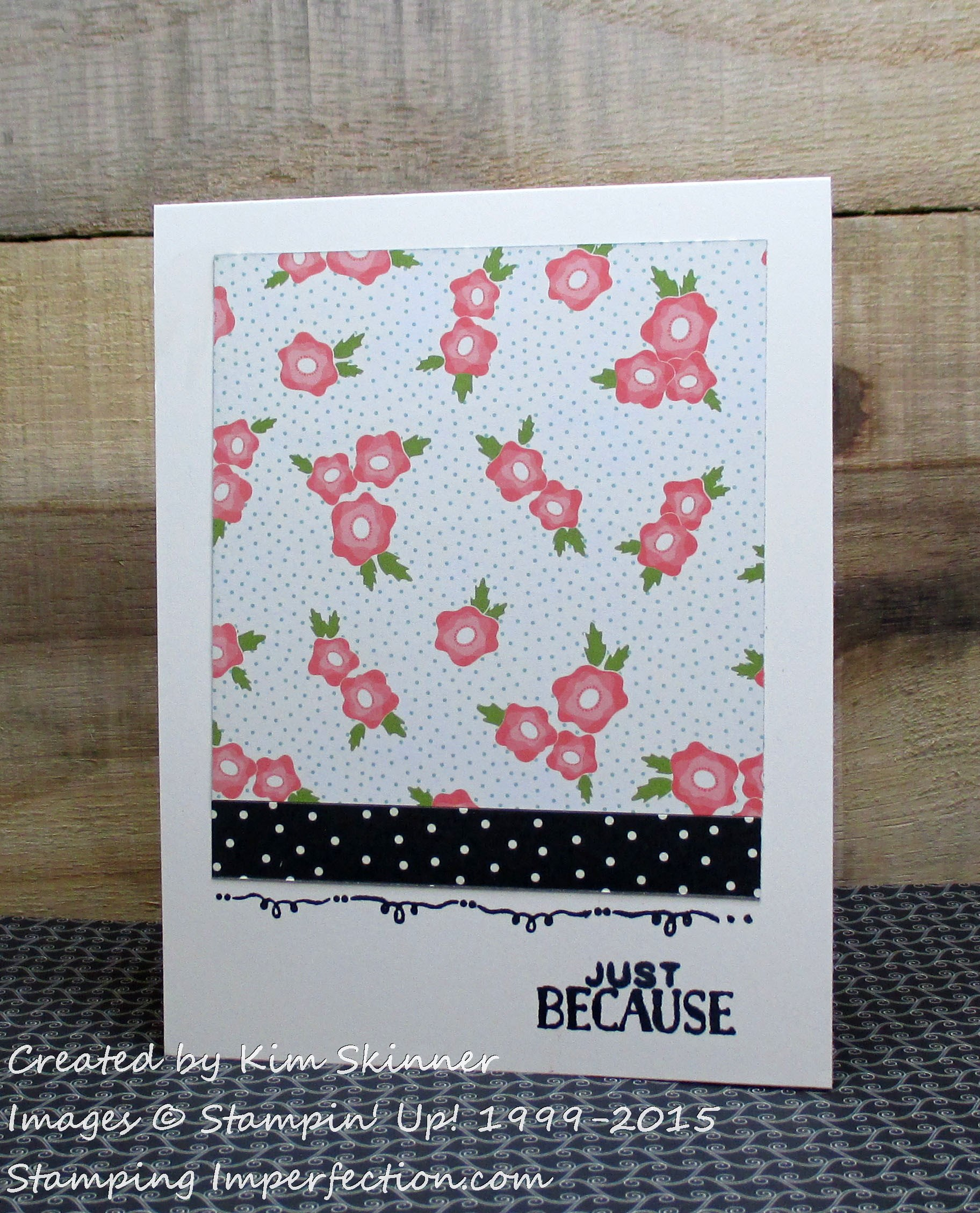 pretty petals clean and simple card
