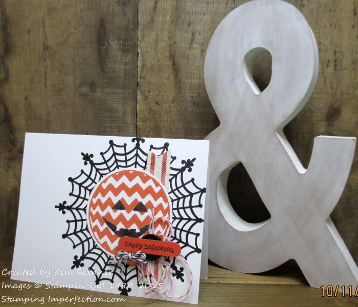 Happy Halloween Card Stamping Imperfection