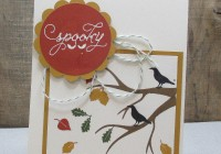 spooky autumn card with stamping imperfection