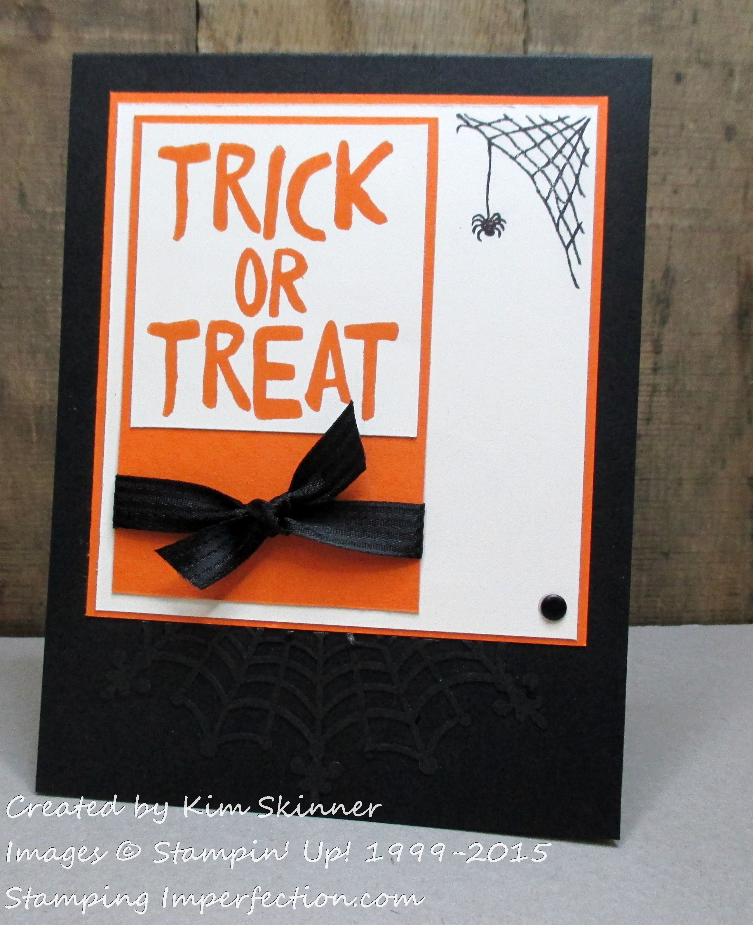 Trick or Treat with Stamping Imperfection