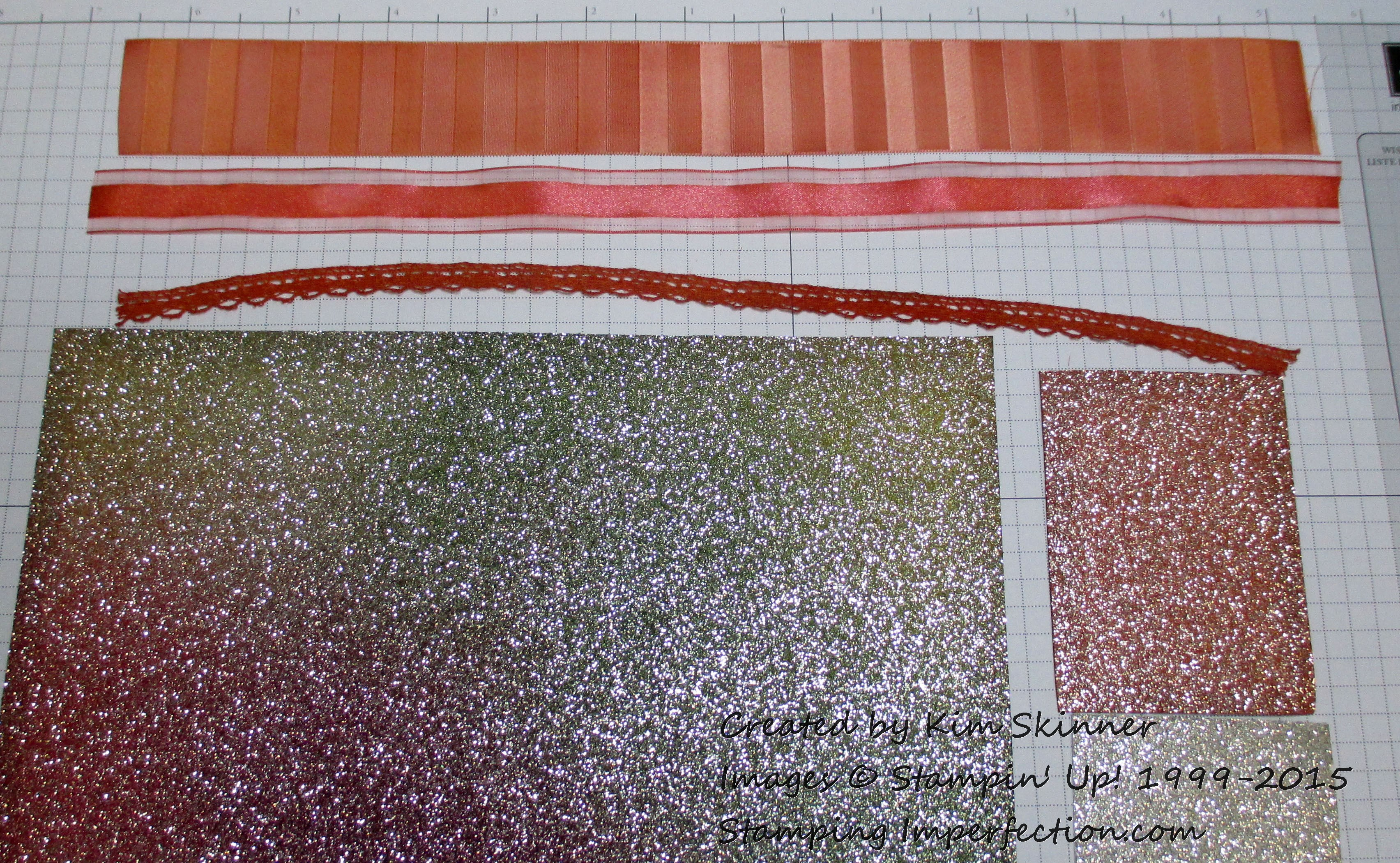 Create Your Own Unique Colored Ribbon And Glimmer Paper