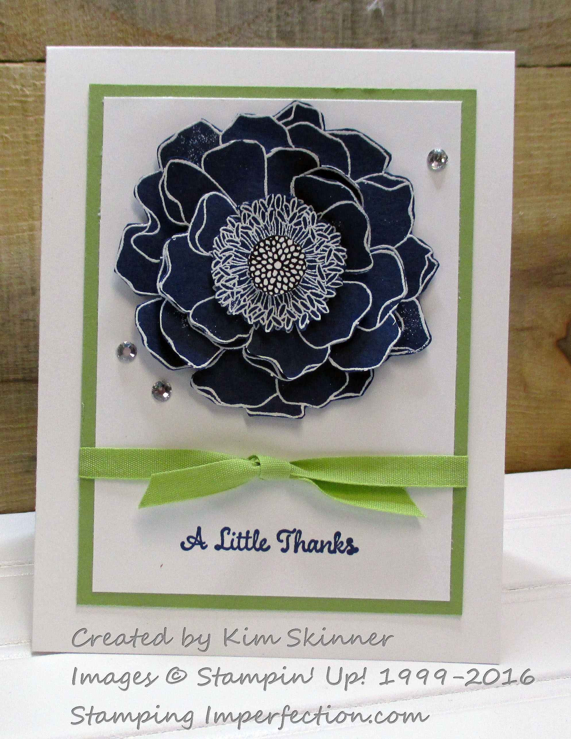 Stamping Imperfection Blended Blooms