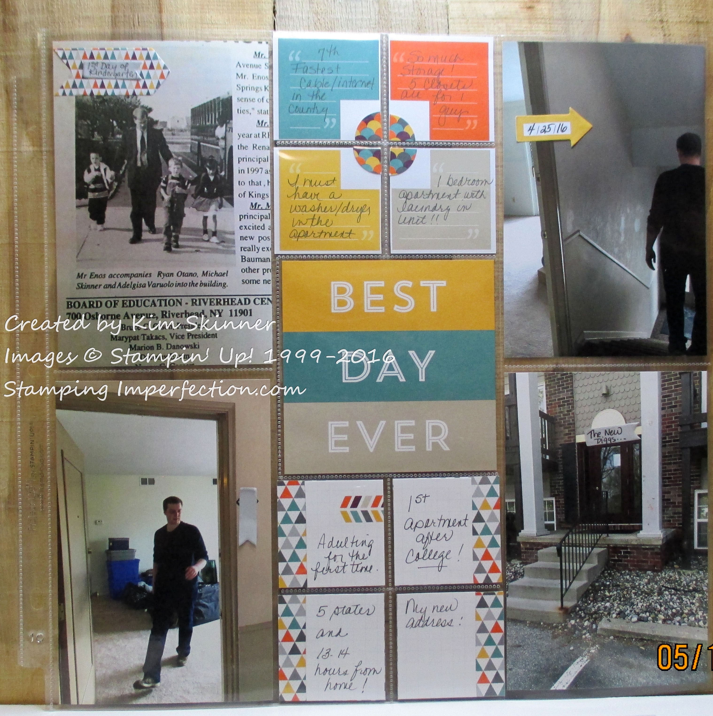 stamping imperfection memory keeping with project life