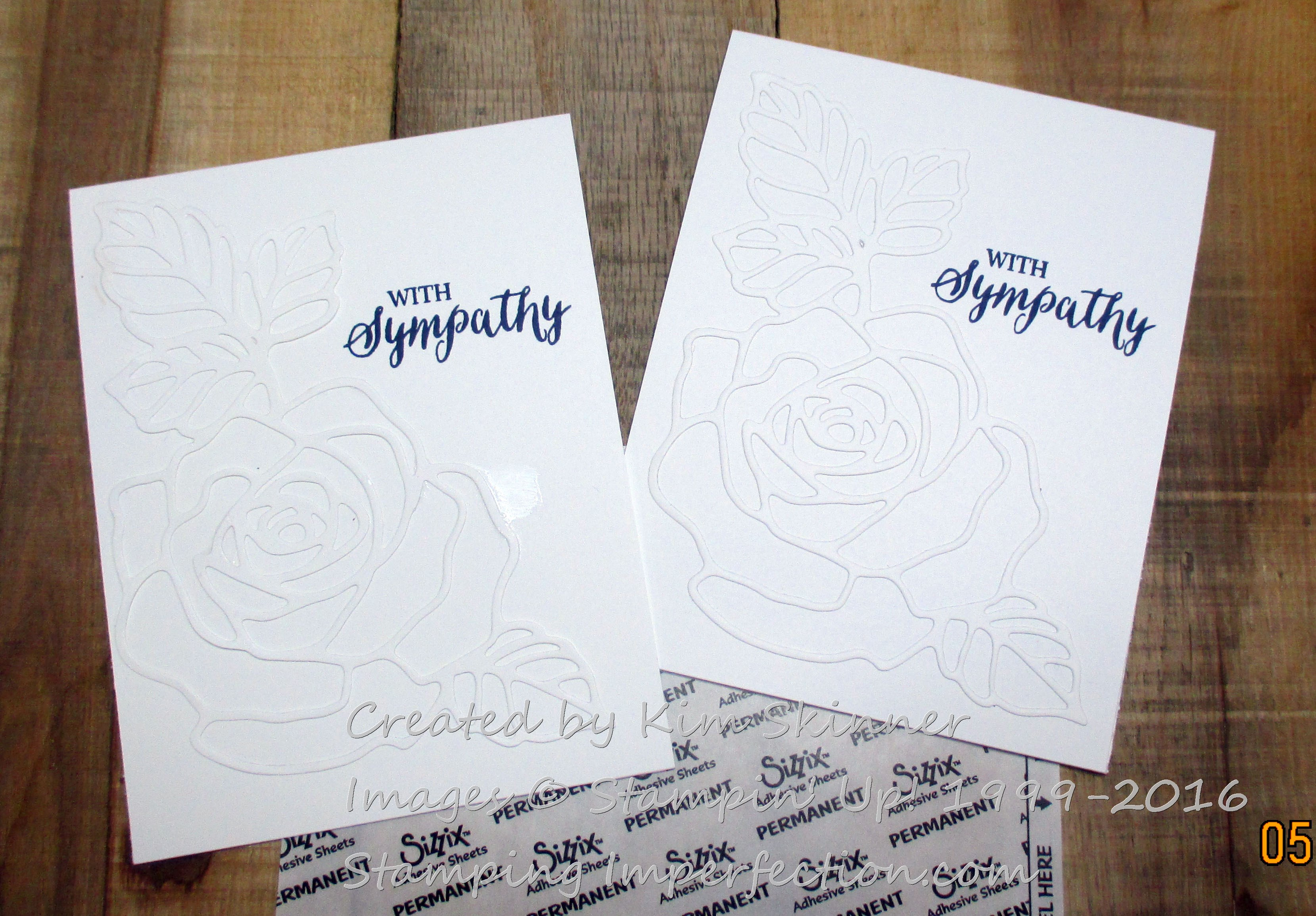 sympathy card with rose wonder