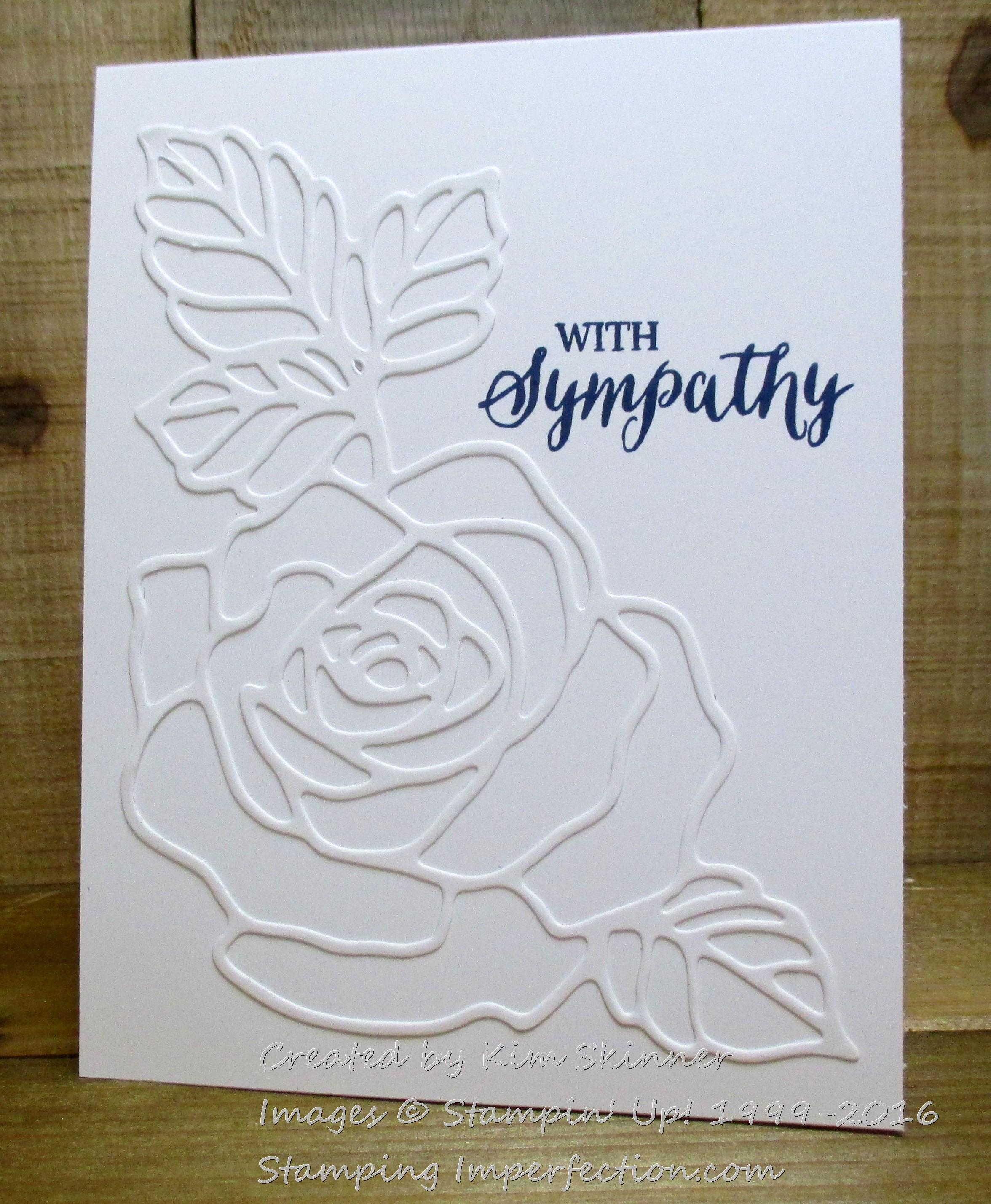 sympathy card with rose wonder